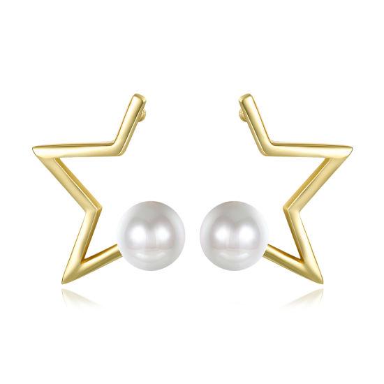 Fashion Design Women Pearl Gold Earrings Women Fashion Jewelry
