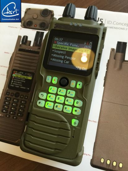 China 30-88MHz/5W Portable Radio for Army with AES-256