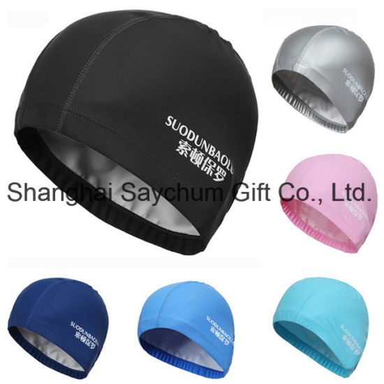 Custom Logo Silicon Waterproof Swimming Caps Protect Ears Long Hair Sports Swim Pool Hat Swimming Cap