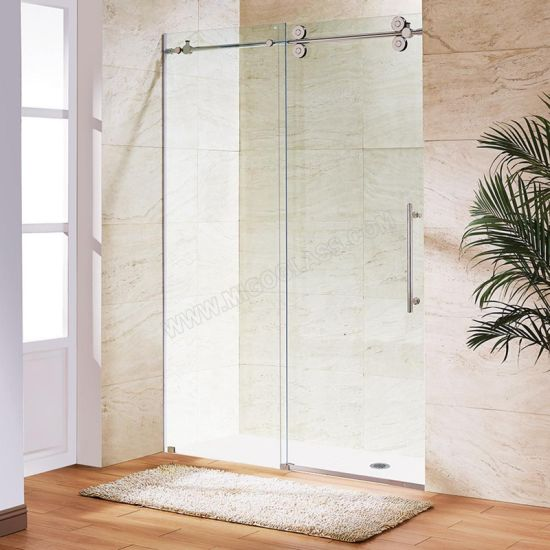 8mm Frameless Silding Glass Shower Doors with Clear Glass