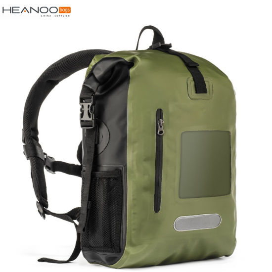 China Xiamen Factory Custom 30L Green Waterproof Dry Bag Backpack ... 9b509885b0153