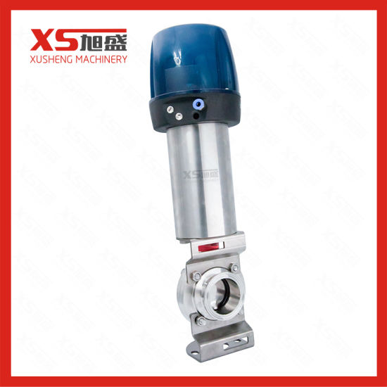 Stainless Steel Sanitary Hygienic Pneumatic Butterfly Valve with Intelligent Head