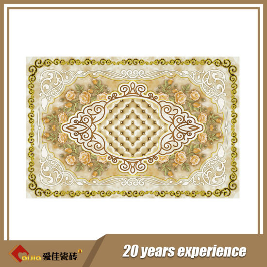 China Best Quality Carpet Tiles With Gold For India Market