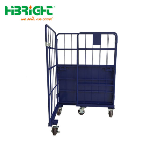 Warehouse Large Rolling Metal Wire Cage Storage Cage Container pictures & photos