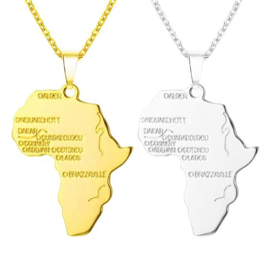 OEM Hot Sale Metal Hip-Hop African Continent Pendant Necklace pictures & photos