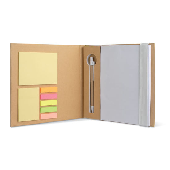 Recycled Notebook with Sticky Notes, Paper Pen and Blank Writing Pad pictures & photos