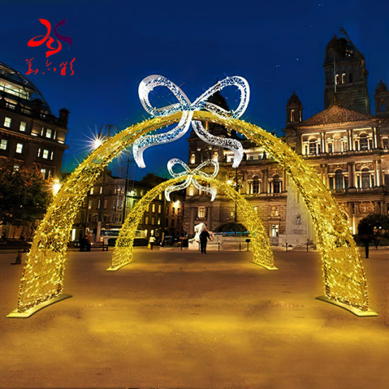 New Year Decorative Commercial Christmas Festival LED Arch Street Lighting