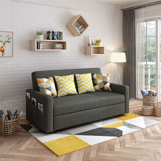 China Excellent Design Multifunction Bedroom Futon Furniture Fabric Hotel Sofa Bed China Fold Out Sofabed Sleeper Sofa