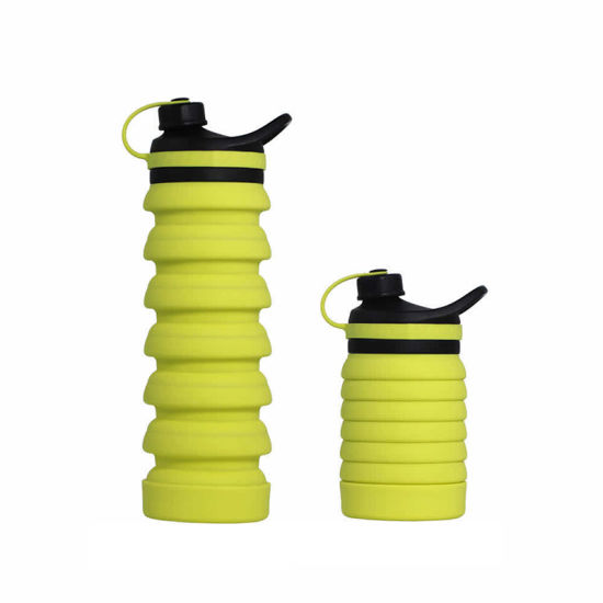 Outdoor Portable Collapsible Reusable Sports Water Bottle BPA Free Running Water Bottle