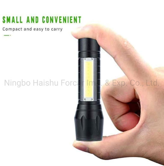 USB Rechargeable Mini XPE LED Flashlight 4 Modes Torch for Outdoor Indoor //Neu