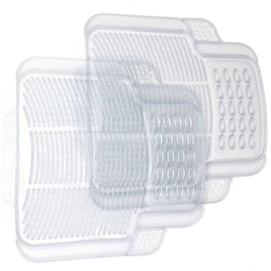 Universal PVC Full Set Transparent Rubber Waterproof Car Floor Mats