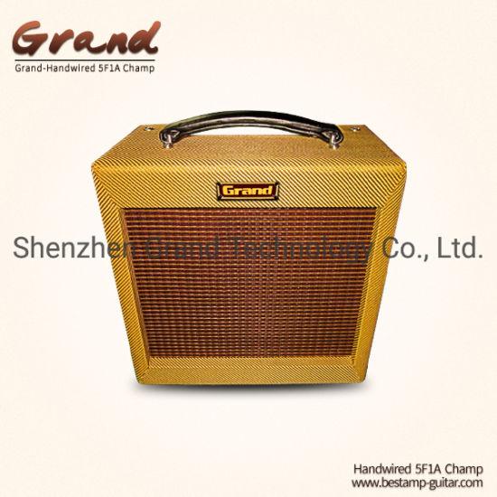 "Custom Princeton 5f2a Champ Tweed Guitar Combo Amplifier, 5W Volume Tone Control 1*10"" Celestion Speaker Orange Drop Capacitor"