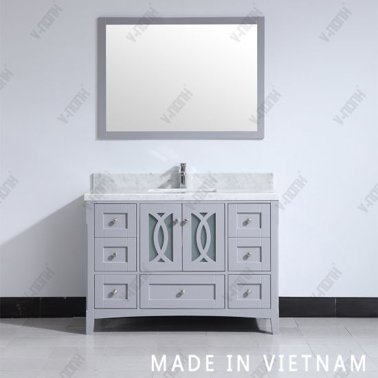 China Morden 48inch Grey Free Standing, What Size Mirror For A 48 Inch Vanity