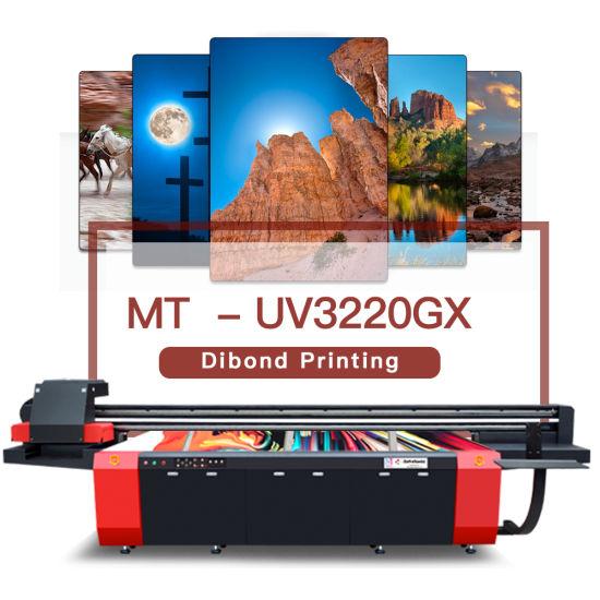 Digital Large Format UV Flatbed Printer for Dibond Metal PVC Sheet Ceramic Wood Glass Printing