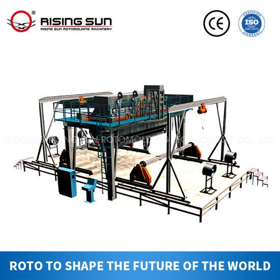 CT Series Rock N Roll Making Boat Rotomolding Machine