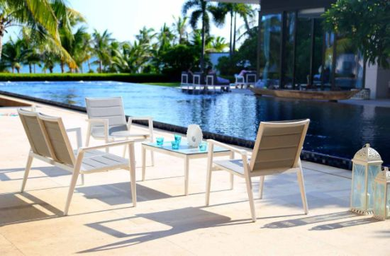 Factory Hot Sale Aluminium Textilene Sofa Garden Sets