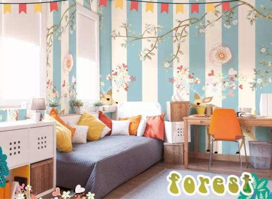 China Hot Selling Cartoon Characters Wall paper for Kids Room