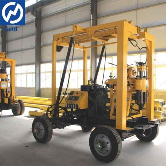 Trailer Mounted Water Well Drilling Rig and Borehole Drilling Rig and Core Drilling Machine