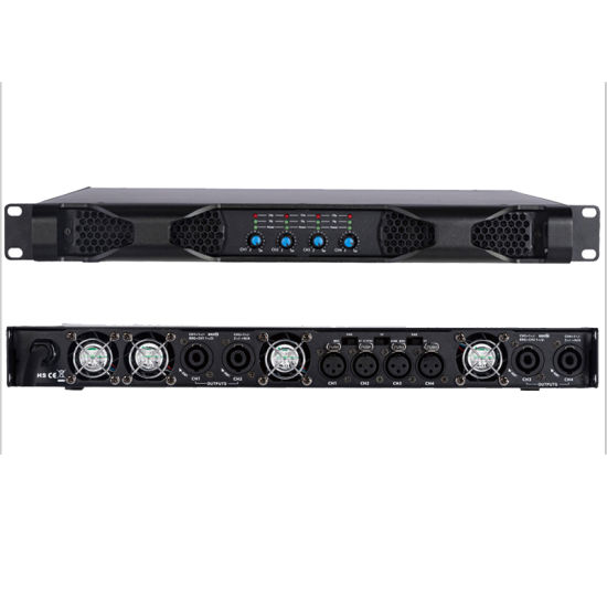 Best Qualty D418 1800W Four Channels High Power 1u Amplifier