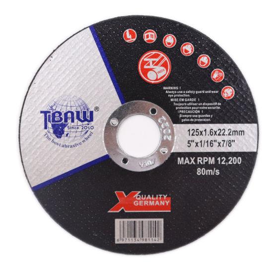 China Factory 5inch 125X16X22mm Cutting Wheel Disco De Corte