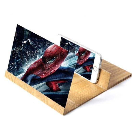 Amazon New 3D Cell Phone Screen Magnifier with Foldable Holder Stand Enlarged Screen
