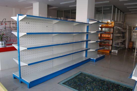 Customized Wooden Supermarket Gondola Display Shelf/Storage Rack for Retail