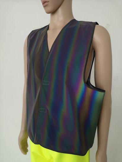 2020 Hot Sales New Fashion Safety Vest Sport Running Vest Belt Waist Vest Road Warning Safety Vest with Colorful Reflective Fabric Polychrome
