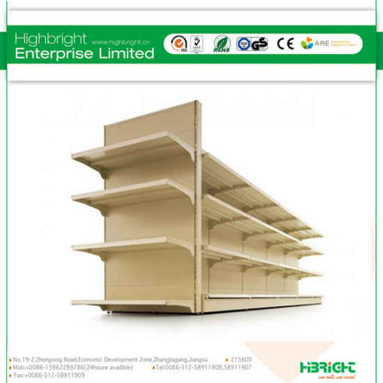 Pegboard Perforated Punched Hole Supermarket Gondola Shelving pictures & photos