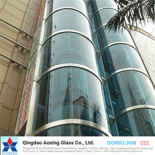 Clear Curved Tempered Glass for Table/Construction Building pictures & photos