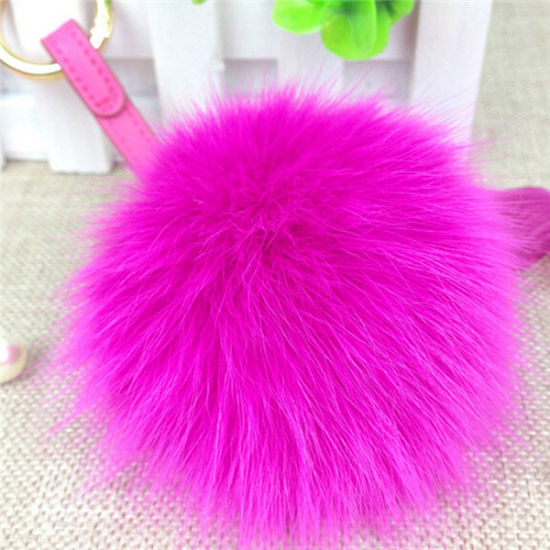 China Wholesale Fluffy POM Poms Fox Fur Ball pictures & photos