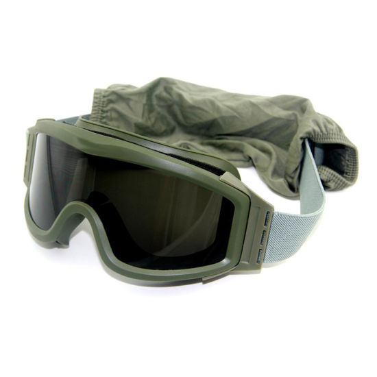 051b23b4753 Vintage Green Frame Anti Scratch HD Lens Protective Military Army Shooting  Goggles
