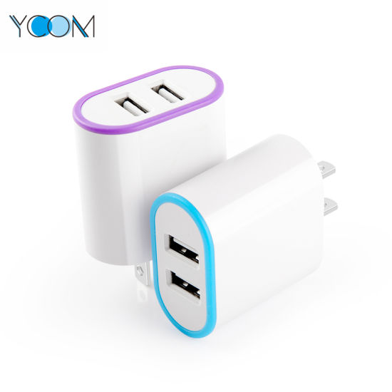 Ycom 3 a Mobile Phone USB Charger Dual USB Port Charger pictures & photos