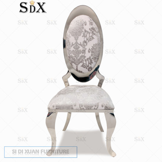 Wholesale Dining Room Furniture Stainless Steel Base Modern Banquet Wedding Party Dining Chair