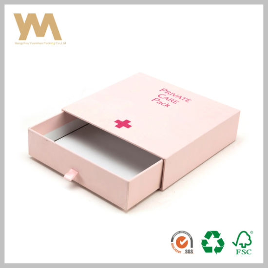 High Quality White Cardboard Paper Drawer Gift Box pictures & photos