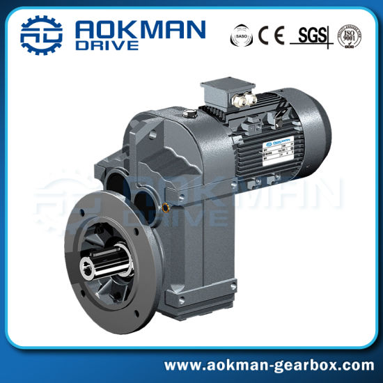 Aokman Standard High Torque F Series Parallel Shaft Gear Reducer Gearbox