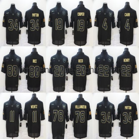 2020 Salute to Service Payton Cooper Carr Wentz Reed Football Jerseys