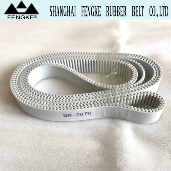 White PU Timing Belts 5m-2070 pictures & photos