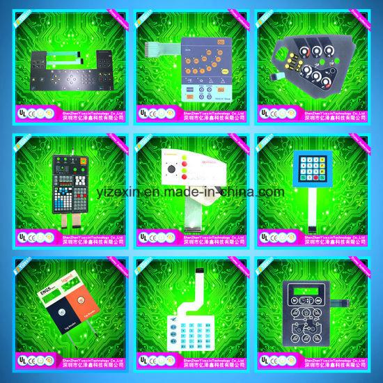 China Membrane Matrix Keypad Fritzing Overlay Panel - China