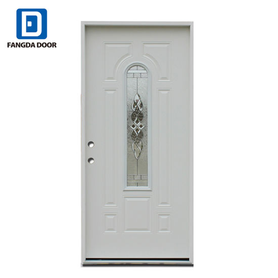 China Fangda Center Arch Tempered Glass Premium Primed White Steel