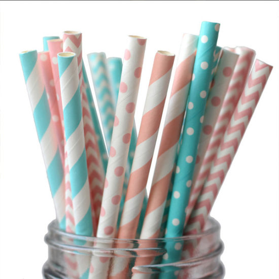 Wholesale Long Flexible 8mm Gold Disposable Drinking Straws Manufacturer