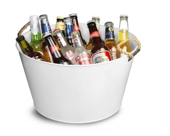 Party Tub with Rope Handles Galvanised Steel Drinks Pail Ice Bucket pictures & photos
