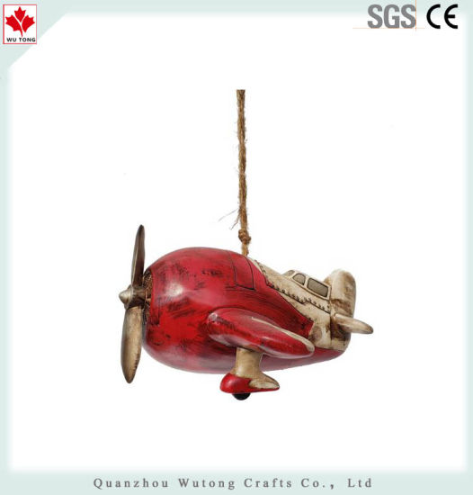 Resin Airplane Shape Garden Birdhouse pictures & photos