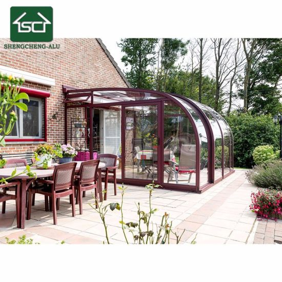 China Customized Elegant Retractable Aluminum Garden Room With 4