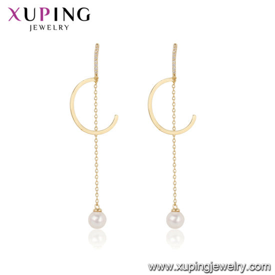 Fashion Plated Gold Color Ladies Earring pictures & photos
