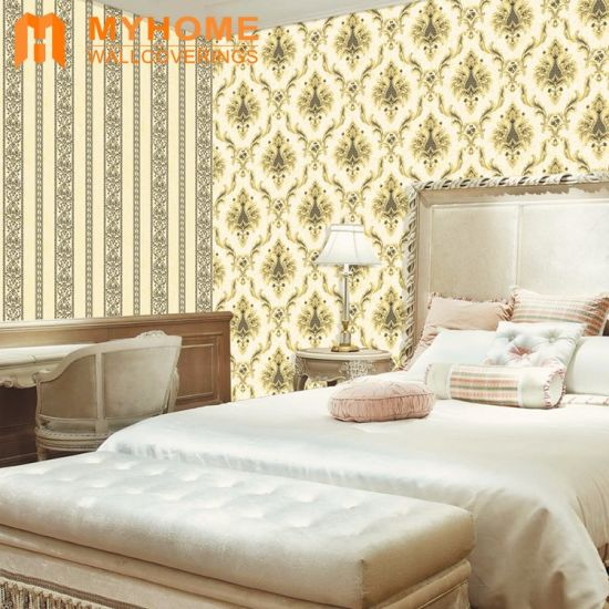 China Non-Woven Deep Embossed Wallpaper Papel De Parede for Walls ...