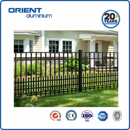 6'x8' Aluminum Alloy Garden Fence with Speared Wleding Fence Panel