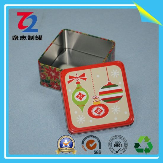 OEM Customized Square Tin Box for Gift pictures & photos