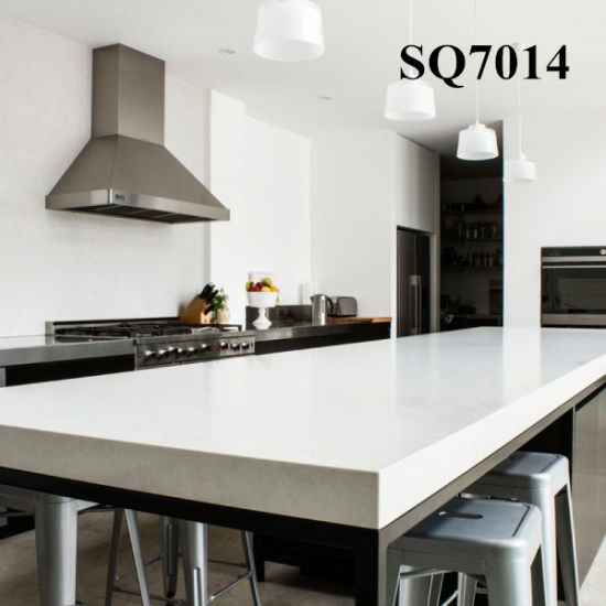 30mm Engineered Stone Kitchen Countertops With London Grey Color