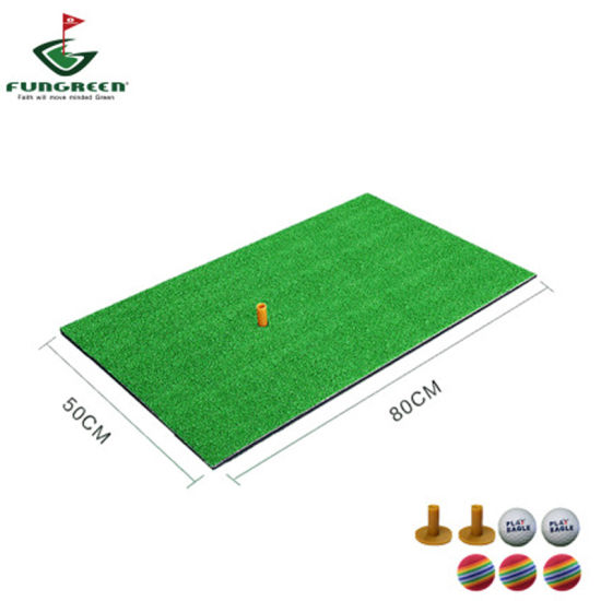 Wholesale 50*80cm Mini Indoor Fake Grass Golf Practice Hitting Mat pictures & photos