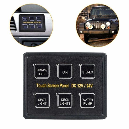 China 6 Gang Switch Panel Electronic Relay System Circuit